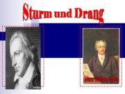 Sturm und Drang Johann Wolfgang Goethe Sessenheimer Lieder