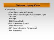 Sistemas criptográficos Exemplos IPsec Secure Internet
