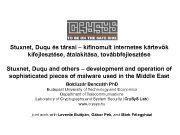 Stuxnet Duqu és társai kifinomult internetes kártevők