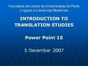 Faculdade de Letras da Universidade do Porto Línguas
