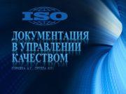 Документация в управлении качеством Горкина А.С., Группа 8351