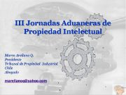 III Jornadas Aduaneras de Propiedad Intelectual Marco Arellano