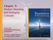 Chapter 9 Product Branding and Packaging Concepts Pride Ferrell