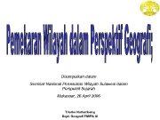 Disampaikan dalam Seminar Nasional Pemekaran Wilayah Sulawesi dalam