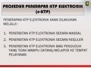 PROSEDUR PENERAPAN KTP ELEKTRONIK e-KTP PENERAPAN KTP ELEKTRONIK