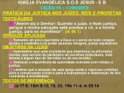 IGREJA EVANGÉLICA S O S JESUS — E