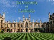 The University of Cambridge The University of Cambridge