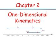 Chapter 2 One-Dimensional Kinematics Kinematics It