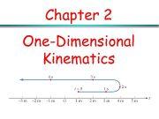 Chapter 2 One-Dimensional Kinematics Kinematics It