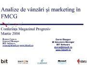 Analize de vânzări şi marketing în FMCG Conferinţa