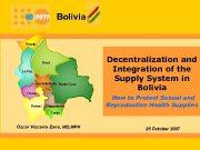 Bolivia Pando Beni La Paz Cochabamba Santa Cruz