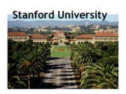 Stanford University Stanford University The Leland Stanford Junior