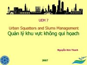UEM 7 Urban Squatters and Slums Management Quản