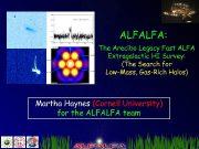 ALFALFA The Arecibo Legacy Fast ALFA Extragalactic HI