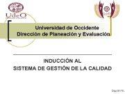 Universidad de Occidente Dirección de Planeación y Evaluación
