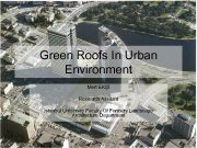 Green Roofs In Urban Environment Mert EKŞİ Research