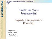 Producción CAPITULO I INTRODUCCIÓN Y CONCEPTOS Estudio de