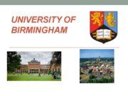 University of Birmingham The City of Birmingham The