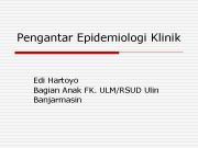 Pengantar Epidemiologi Klinik Edi Hartoyo Bagian Anak FK