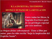 Presentación del P Silverio Velasco B LA ESCRITURA