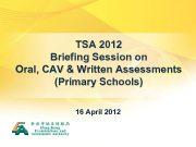 TSA 2012 Briefing Session on Oral CAV