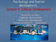 Psychology and human development. Lecture 4. Infancy Development