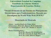 Universidade Estadual de Campinas Faculdade de Ciências Médicas