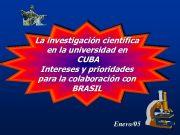La investigación científica en la universidad en CUBA