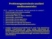 Problemegenerale analizei medicamentelor FR X — capitolul Monografii-