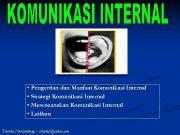 Pengertian dan Manfaat Komunikasi Internal