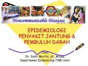 EPIDEMIOLOGI PENYAKIT JANTUNG PEMBULUH DARAH Oleh Dr