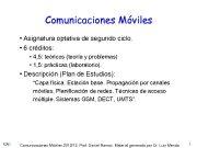 Comunicaciones Móviles Asignatura optativa de segundo ciclo