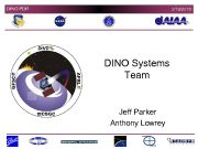 DINO PDR 3 19 2018 DINO Systems Team Jeff Parker