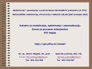 Modeliranje i upravljanje u prehrambeno-tehnološkim procesima P Ph