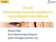 Angol Írni jó Íráskészség fejlesztő foglalkozás nyelvvizsgára készülőknek