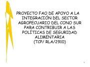 PROYECTO FAO DE APOYO A LA INTEGRACIÓN DEL
