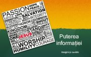 Puterea informației Imagini și cuvinte Isus Christos
