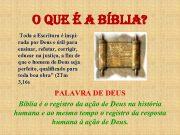 o QUE É a BÍBlia Toda a Escritura