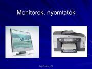 Monitorok nyomtatók Liptai Krisztina 13 D Monitorok Manapság