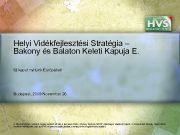 Helyi Vidékfejlesztési Stratégia Bakony és Balaton Keleti