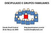 DISCIPULADO E GRUPOS FAMILIARES Sínodo Brasil Central 28