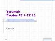 Terumah Exodus 25 1 -27 19 Ceaser Page