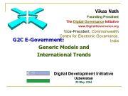 Vikas Nath Founding President The Digital Governance Initiative