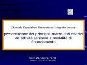 L Azienda Ospedaliera Universitaria Integrata Verona presentazione dei principali