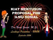 KIAT MENYUSUN PROPOSAL PHB ILMU SOSIAL Dra Nurul