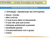 POS MBA Gestão Estratégica de Negócios GESTÃO DE