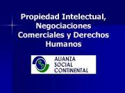 Propiedad Intelectual Negociaciones Comerciales y Derechos Humanos