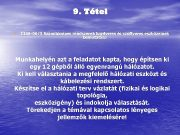 9 Tétel Ø 1168 -06 3 Számítógépes rendszerek hardveres