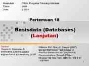 Matakuliah Tahun Versi T 0604 -Pengantar Teknologi