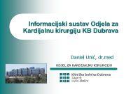 Informacijski sustav Odjela za Kardijalnu kirurgiju KB Dubrava